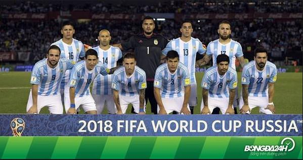 doi hinh argentina world cup 2018